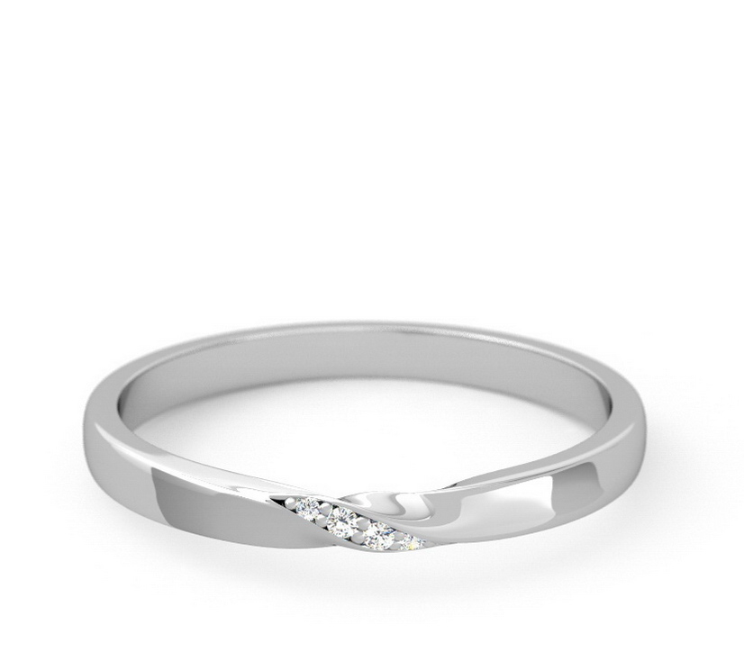 Twisted Diamond Accent